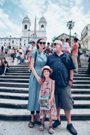 Family photos in Rome - Spanish steps