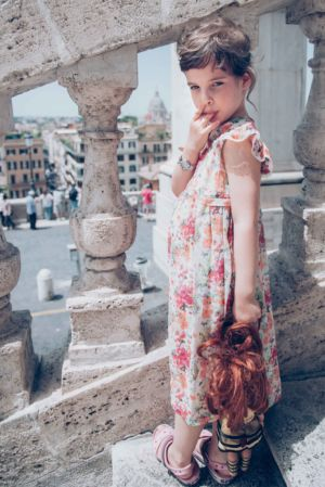 Little girl in Rome